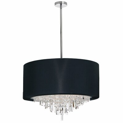 Falmouth 8-Light Drum Chandelier Shade Color: Black