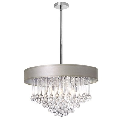 Durand 8-Light 40W Drum Chandelier Shade Color: Pebble