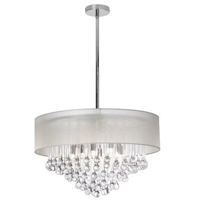 Durand 8-Light Drum Chandelier Shade Color: Oyster