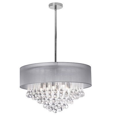 Holly 8-Light Drum Chandelier Shade Color: Silver