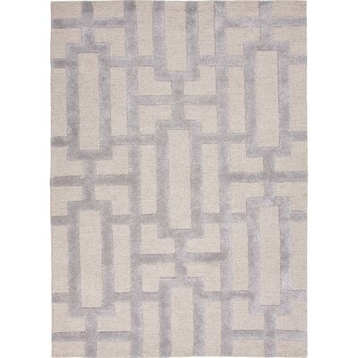 One-of-a-Kind Avery Hand-Tufted Silk Silver Gray Area Rug Rug Size: Rectangle 36 x 56