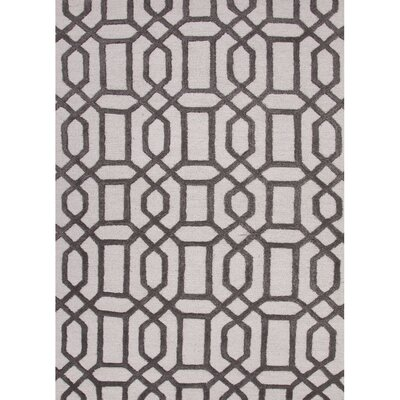 Blondell Antique White/Liquorice Area Rug Rug Size: 36 x 56