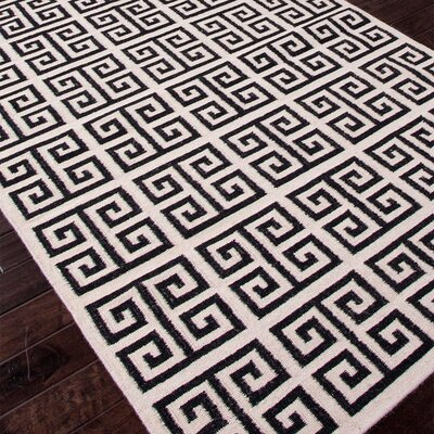 Ginger Black Geometric Area Rug Rug Size: Rectangle 9 x 12
