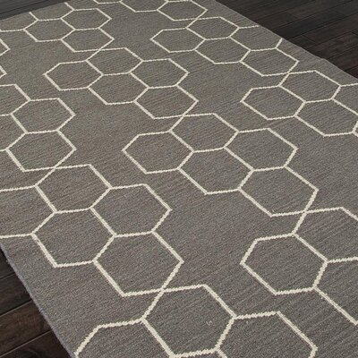 Middlesbrough Hand-Woven Gray Area Rug Rug Size: 5 x 8