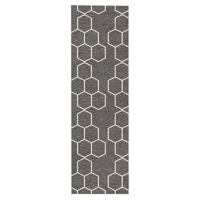 Middlesbrough Hand-Woven Gray Area Rug Rug Size: Runner 26 x 8