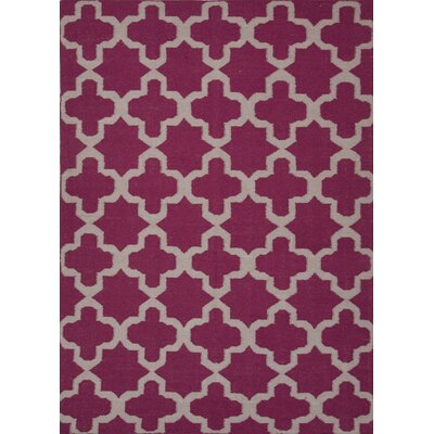 Chatswood Hand-Woven Pink Area Rug Rug Size: 9 x 12