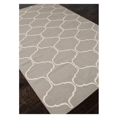 Caresse Hand-Woven Gray Area Rug Rug Size: Rectangle 5 x 8