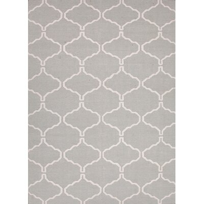 Caresse Hand-Woven Luxurious Gray Area Rug Rug Size: 36 x 56