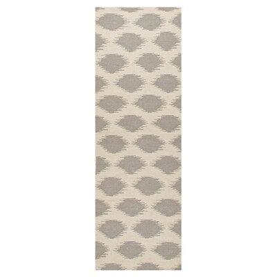 Brushwood Hand-Woven Beige/Gray Area Rug Rug Size: Runner 26 x 8