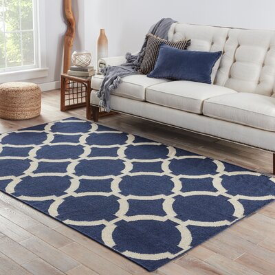 Blondene Hand-Woven Blue Area Rug Rug Size: Rectangle 36 x 56