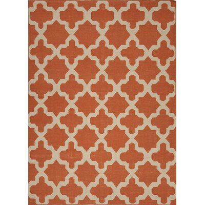 Chatswood Hand-Woven Red Area Rug Rug Size: 8 x 10
