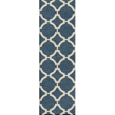 Blondene Durable Hand-Woven Blue Area Rug Rug Size: Runner 26 x 8