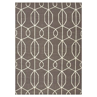 Dianne Hand-Woven Brown Area Rug Rug Size: 3'6
