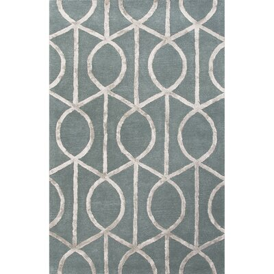 Blondell Blue & Gray Geometric Area Rug Rug Size: 5 x 8
