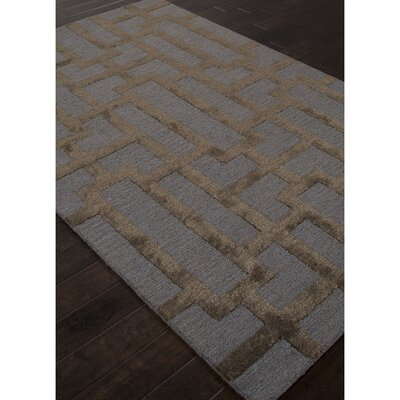 Blondell Blue / Brown Geometric Area Rug Rug Size: 2 x 3