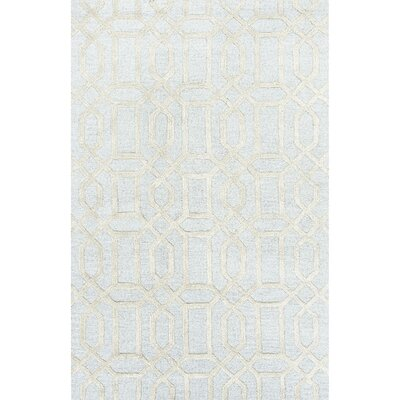 Avery Blue / Ivory Geometric Area Rug Rug Size: Rectangle 8' x 11'