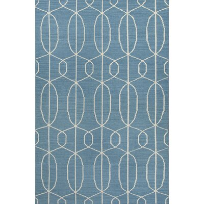 Wilder Geometric Blue/Ivory Area Rug Rug Size: Rectangle 2' x 3'