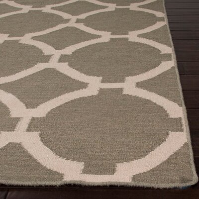 Rickman Dark Brown Geometric Area Rug Rug Size: 36 x 56