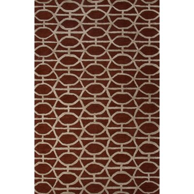 Jagger Wool and Art Silk Hand Tufted Red Area Rug Rug Size: 8 x 11