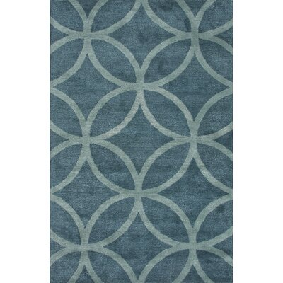 Jagger Wool and Art Silk Hand Tufted Blue Area Rug Rug Size: 2 x 3