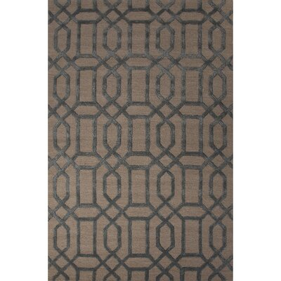 Jagger Wool and Art Silk Hand Tufted Ivory/White/Blue Area Rug Rug Size: 36 x 56
