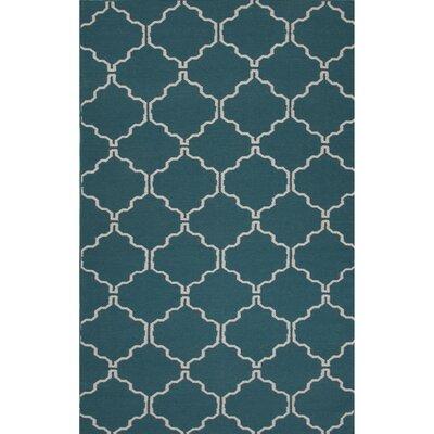 Wilder Wool Flat Weave Blue/Ivory Area Rug Rug Size: 8 x 10