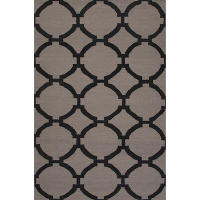 Wilder Wool Flat Weave Gray/Black Area Rug Rug Size: 8 x 10