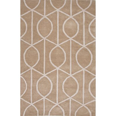 Jagger Wool and Art Silk Hand Tufted Taupe/Tan Area Rug Rug Size: 36 x 56