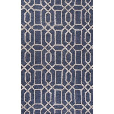 Blondell Hand-Tufted Blue Area Rug Rug Size: 5 x 8