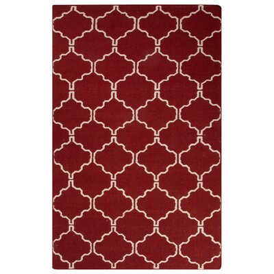 Rickman Red Area Rug Rug Size: Rectangle 5 x 8