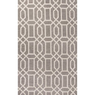 Avery Hand-Tufted Silk Gray Area Rug Rug Size: 5 x 8