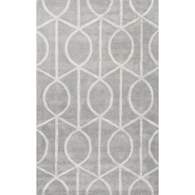 Blondell Hand-Tufted Contemporary Blue Area Rug Rug Size: 5 x 8
