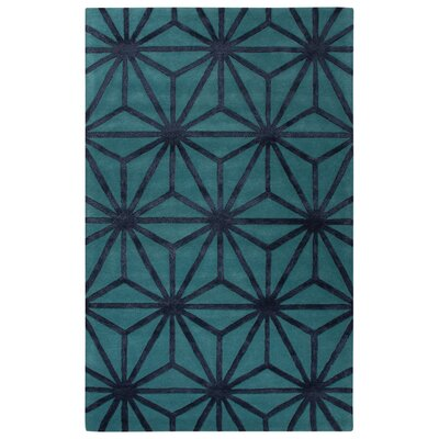 Blondell Hand-Tufted Textured Blue Area Rug Rug Size: 5 x 8