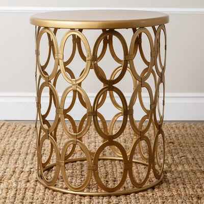 Griffith End Table Color: Gold