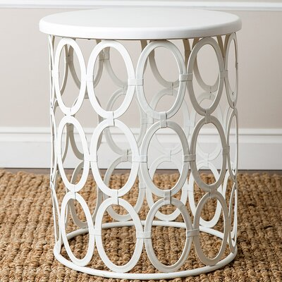 Griffith End Table Color: White