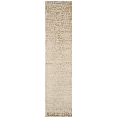 Amazonia Hand-Tufted Ivory Area Rug Rug Size: Runner 23 x 10