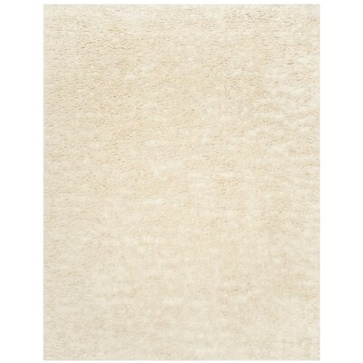 Zulte Hand-Knotted Ivory Area Rug Rug Size: Rectangle 8 x 10