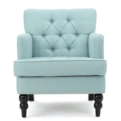 Herve Club Chair Upholstery : Light Blue