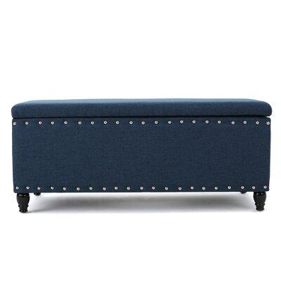 Hollins Storage Ottoman Upholstery: Navy Blue