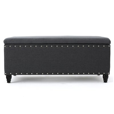 Ridder Storage Ottoman Upholstery: Charcoal
