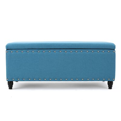 Hollins Storage Ottoman Upholstery: Teal