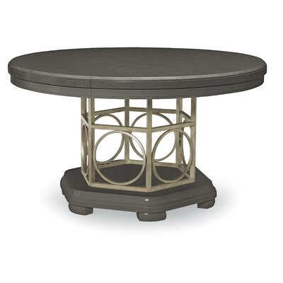 Rogers Extendable Dining Table Table Finish: Moonstone and Silver Accents