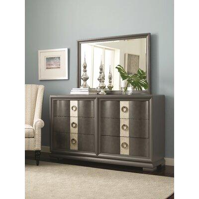 Recinos 6 Drawer Dresser with Mirror
