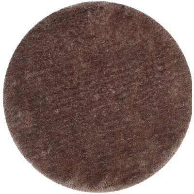 Bevan Shag Hand-Tufted Taupe Area Rug Rug Size: Round 6