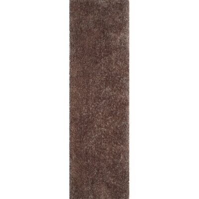 Bevan Shag Hand-Tufted Taupe Area Rug Rug Size: Runner 23 x 8