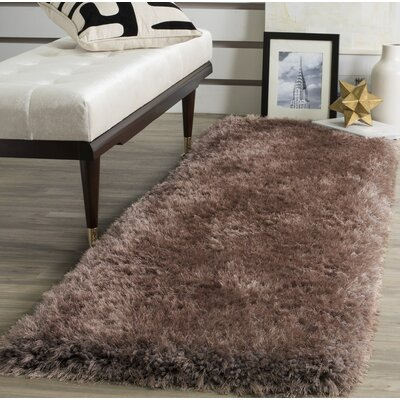 Bevan Shag Hand-Tufted Taupe Area Rug Rug Size: Rectangle 3 x 5