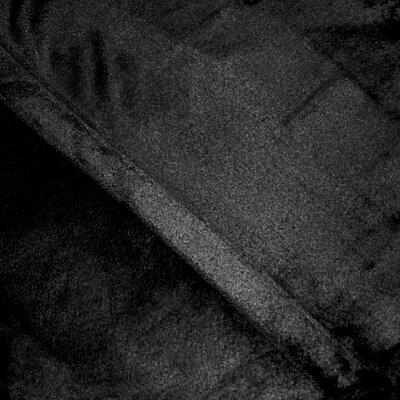 Balderston Super Soft Plush Sheet Set Size: Full, Color: Black