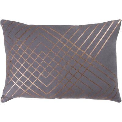 Caressa Geometric Cotton Throw Pillow Size: 20 H x 20 W x 4 D