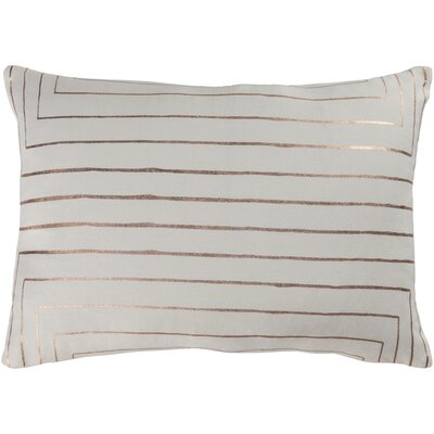 Caressa Neutral Cotton Throw Pillow Size: 18 H x 18 W x 4 D