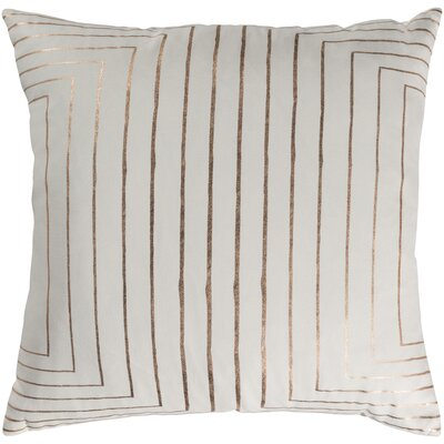 Caressa Metallic Cotton Throw Pillow Size: 18 H x 18 W x 4 D